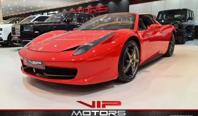 Ferrari 458 Spider-Red-2013-side-view-vip-motors