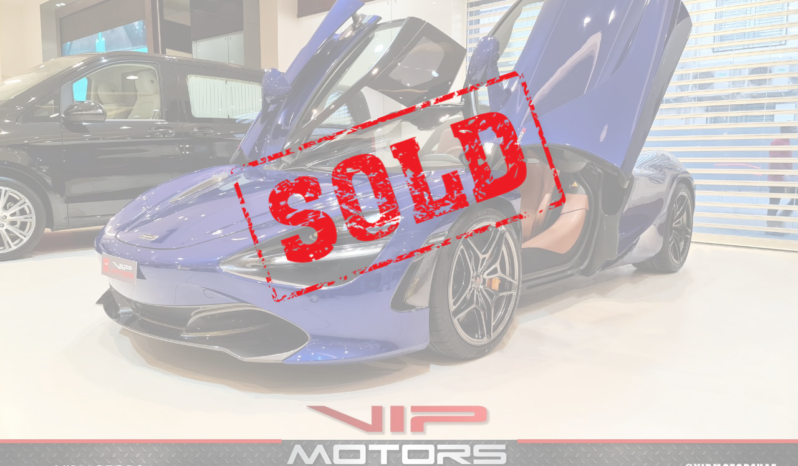 Mclaren-720S-Blue-2018-Front-Side-View-Vip-Motors-Sold