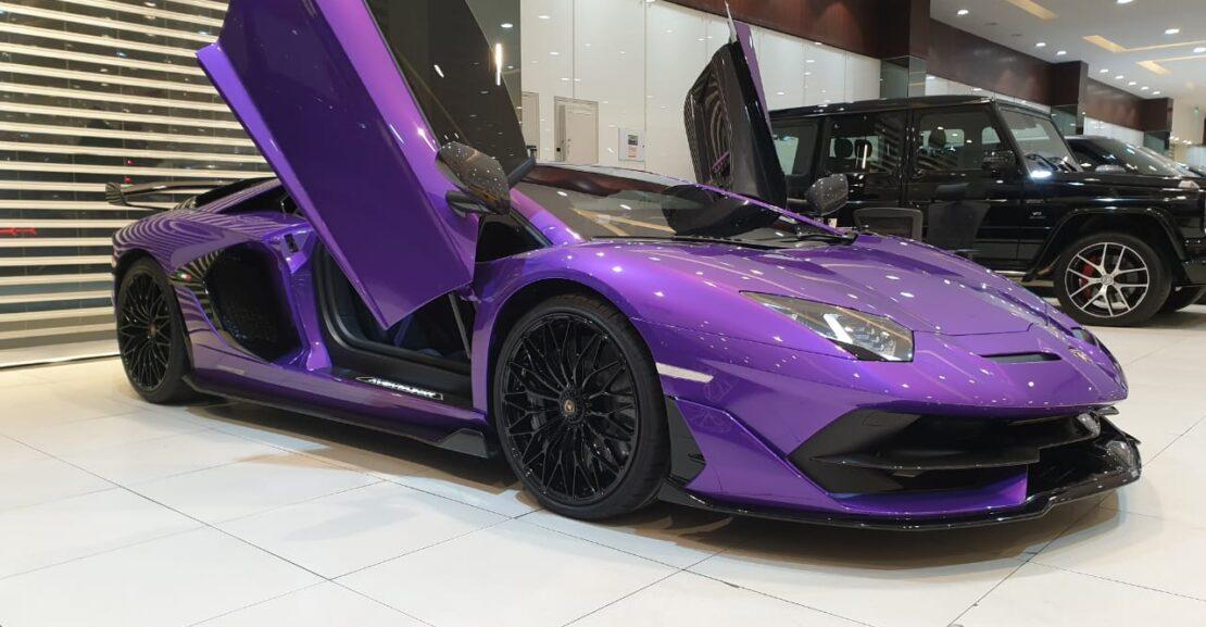 Lamborghini-Aventador-SVJ-Purple-2020-Front-Side-View-Vip-Motors