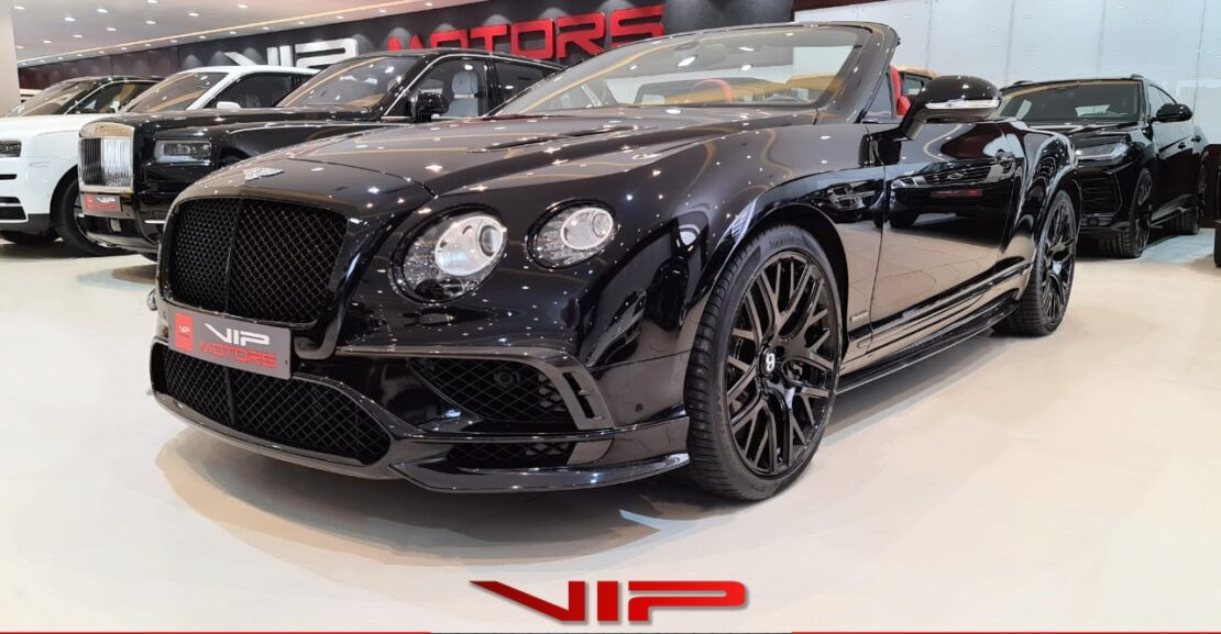 Bentley-Continental-GT-Limited-Edition-Black-2018-Front-Side-View-Vip-Motors