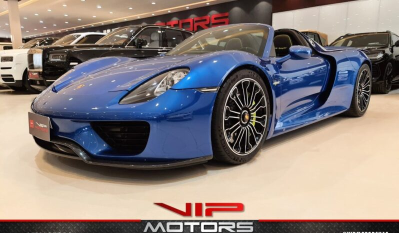 Porsche-918-Spider-Blue-2015-Front-Side-View-Vip-Motors