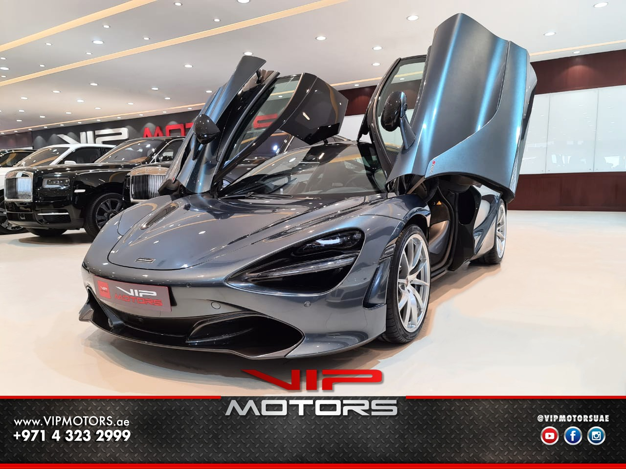 Mclaren-720S-2018-Grey-Front-Side-View-Vip-Motors