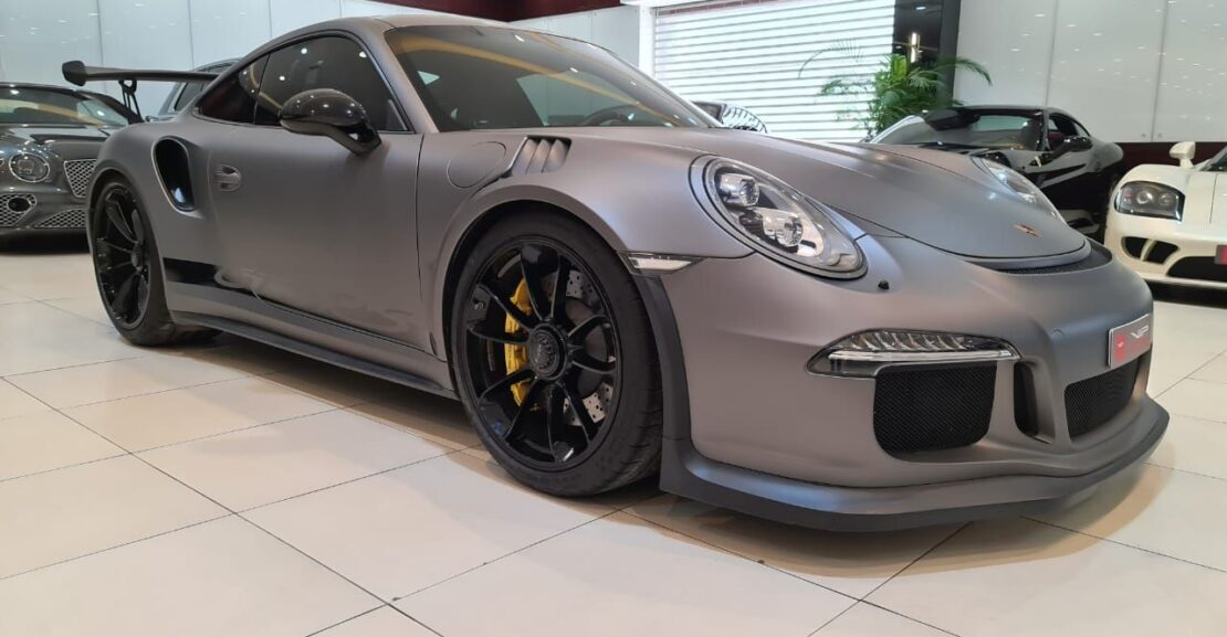Porsche-Carrera-GT3RS-2016-Grey-Front-Side-View-Vip-Motors