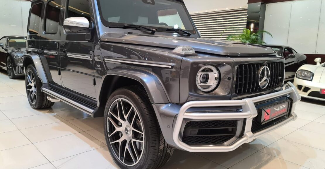 Mercedes Benz-G63-AMG-Grey-2020-Front-Side-View-Vip-Motors