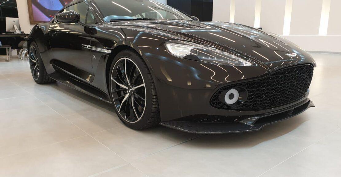 Aston-Martin-Zagato-Brown-2018-Front-Side-View-Vip-Motors