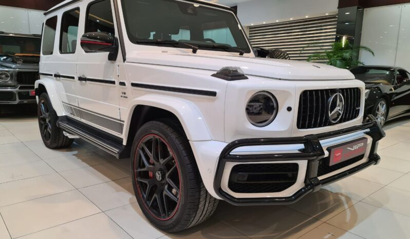 Mercedes Benz G63-AMG-White-2019-Front-Side-View-Vip-Motors