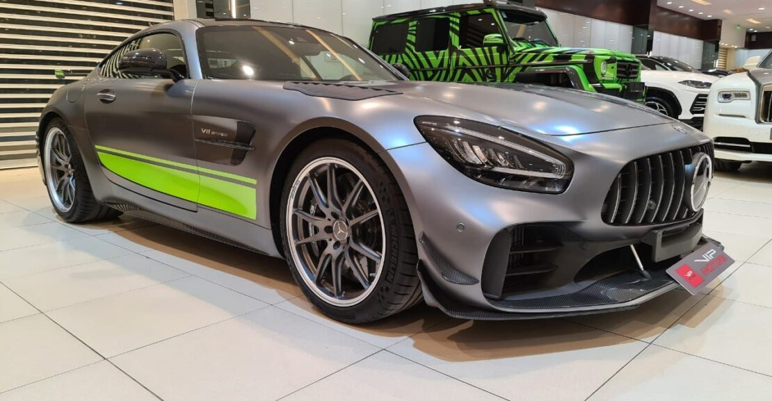 Mercedes-Benz-GT-Grey-2020-Front-Side-View-Vip-Motors