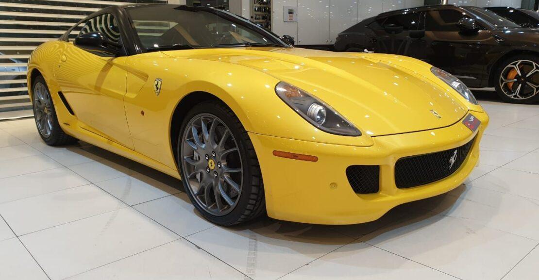 Ferrari-599GTB-Yellow-2011-Front-Side-View-Vip-Motors