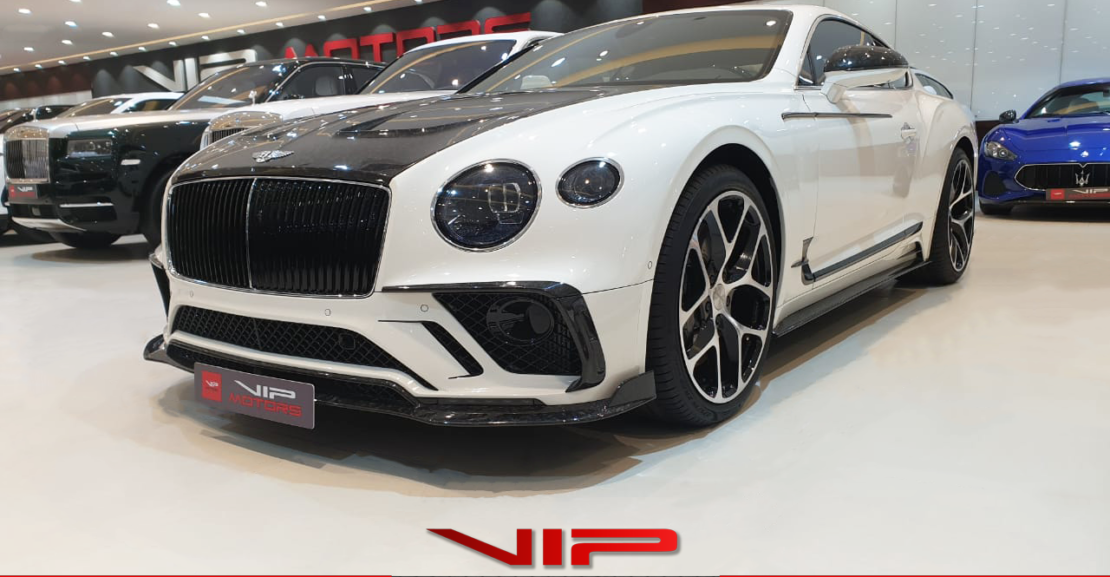 Bentley-Mansory-Continental-GT-White-2019-Front-Side-View-Vip-Motors