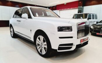 Rolls Royce Cullinan White 2021 Full options with starlights for sale in Dubai