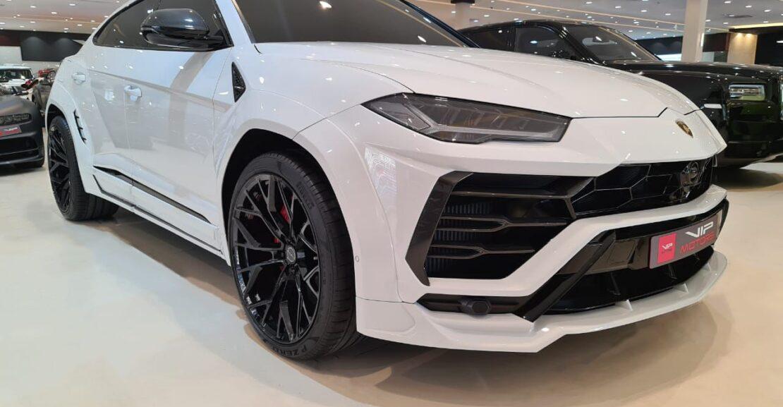 Lamborghini-Urus-White-2019-Front-Side-View-Vip-Motors
