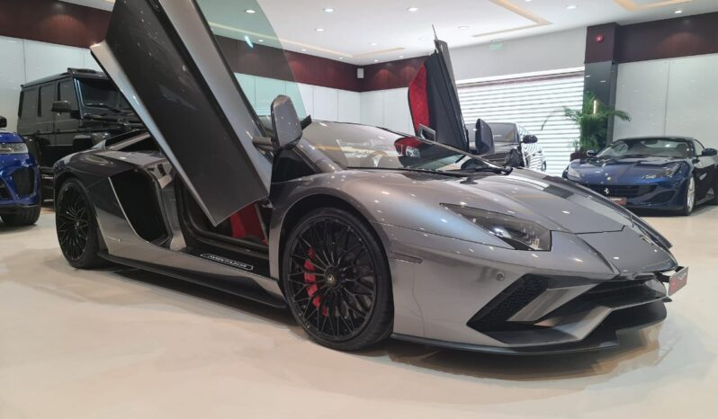 Lamborghini-Aventador-2018-Grey-Front-Side-View-Vip-Motors
