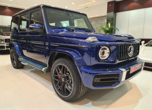 Mercedes-Benz-G63AMG-Blue-2020-Front-Side-View-Vip-Motors